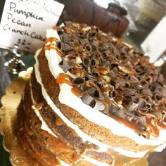 What's your favorite PL&C cake? Our pumpkin pecan crunch cake is a crowd pleaser! #caramelplease