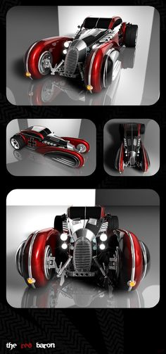 Ideas for my new street rod (More at pinterest.com/gary5mith/ideas-for-my-new-street-rod/)  :The Red Baron by ~LadyDeuce on deviantART