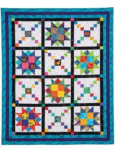 Bed Quilt Downloads - Playful Pathways Quilt Pattern - FQ