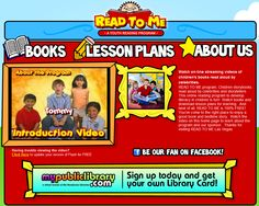 A great site where kids can hear books read to them by celebs