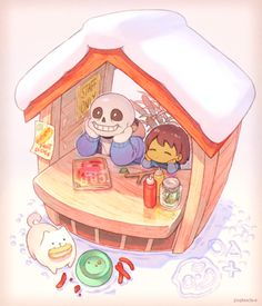 Sans and Frisk, by Pixiv Id 136696 Undertale Game, Frans Undertale, Anime Undertale, Undertale Drawings, Sans X Frisk Comic, Toby Fox, Underswap, Chef D Oeuvre, Indie Games