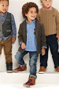 Next - Toddler Fashion..... minus the goofy high top shoes and skinny jeans..mostly just the blazer and oxford