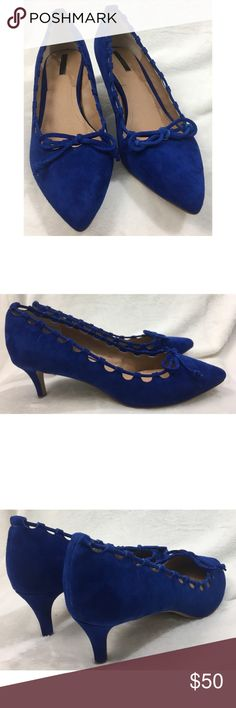"""NWOT Tahari Blue Fawn Suede Pumps Size 9M NWOT Tahari Rolan Suede Pump Women's size 9M Just shy of 2"""" heel height  Fast Shipping Tahari Shoes Heels"""