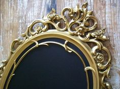 PARIS APT LARGE Ornate Vintage Framed Gold Mirror by shabbymcfabby, $174.00
