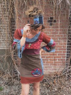 This is an original, one of a kind, Zasra design.This is a funky, handmade, eco conscience, patchwork , comfy jersey tunic dress. This design is a, baby
