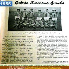 IJUÍ - RS - Memória Virtual: Grêmio Esportivo Gaúcho de Ijuí, em 1955...