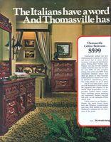 Thomasville Cellini Bedroom 1972 Ad Picture