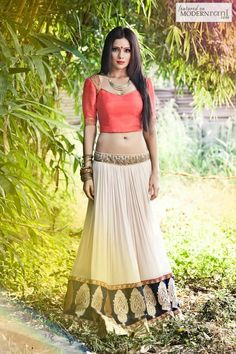 Bridal Indian Reception Lengha - more inspiration @ http://www.ModernRani.com