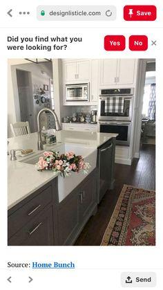 Kitchen Island, Kitchen Cabinets, Kitchen On A Budget, Farmhouse, Home Decor, Ideas, Island Kitchen, Decoration Home, Room Decor