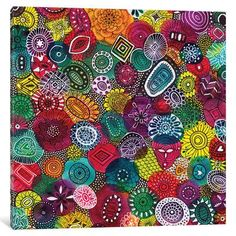 "Bungalow Rose Autumn Jewels Graphic Art on Wrapped Canvas Size: 18"" H x 18"" W x 0.75"" D"