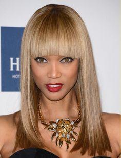 Tyra Banks Long Straight Lace Front Human Hair Wig on http://www.aliwigs.com/tyra-banks-long-straight-yaki-lace-front-human-hair-wig-16-inches-with-ombre-bangs.html