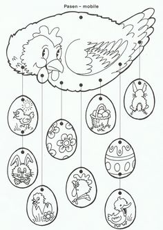 61 Trendy craft for kids spring coloring pages Spring Coloring Pages, Easter Coloring Pages, Colouring Pages, Coloring Books, Easter Arts And Crafts, Spring Crafts, Diy And Crafts, Easter Bunny, Easter Eggs