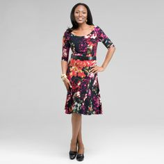 Floral Dresses for Women Over 50 | Top 10 Dress Styles for Women Over 50 #9: SLEEVES I'm not going to ...