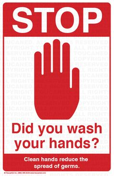 Stop! Did you wash your hands? … More
