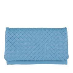 Abro Abro Tasche – Piuma Braided Clutch Dreamblue – in blau – Abendtasche für Damen