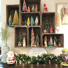 vintage ornaments Happy New Year Merry Little Christmas, Christmas Love, All Things Christmas, Winter Christmas, Christmas Ideas, Holiday Ideas, Holiday Decor, Vintage Christmas Crafts, Retro Christmas Decorations