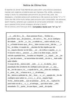 ortografia m ou n completar