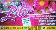 Floristería LiLi  Floristería en Bucaramanga, Dirección:  Calle 34 # 33-54 barrio el Prado en la ciudad de Bucaramanga.
