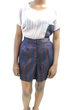 PURPLE FLARED SHORT  #Grey #AfricanFashion #NigerianFashion #BuyNigerian   Available at http://lespacebylpm.com/