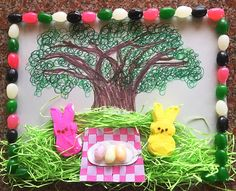 A fun result from our PEEPS decorating party! My Children, Peeps, Picnic, Bunny, Entertaining, Table Decorations, Decorating, Spring, Party