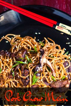 Try quick and easy Ramen Pork Chow Mein at home instead of take-out!