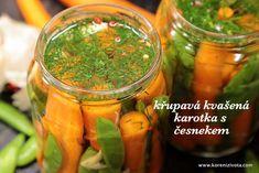 Křupavá kvašená karotka s česnekem jako báječné probiotikum nejen na zimu Pickles, Cucumber, Chili, Food, Chile, Essen, Meals, Pickle, Chilis