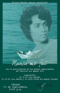 Diana Morán, poeta panameña, murió en el exilio.