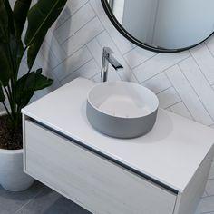 Ella Matte White & Grey Basin | City 50 Vanity | St Michel Bathroomware Designed & Made in New Zealand