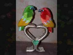 Origami 3D Perroquets