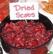 halloween dried scabs dried cranberries or dried cherries halloween party