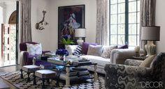 Living Room // Million Dollar Decorators' Martyn Lawrence Bullard's Hollywood Home // ELLE DECOR