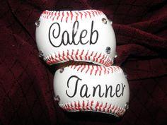 The baseball bracelet for Mom- love this idea!