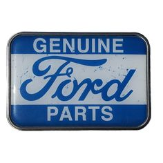 "Official Licensed GM Product. Genuine Ford Parts Belt Buckle. This pewter, nickel-free belt buckle easily attaches to any belt of your choice. Rectangular buckle measures 3 1/2"" W x 2 1/2"" H fits stan"