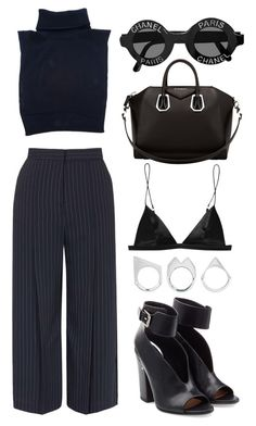 """""""///"""" by mimiih ❤ liked on Polyvore featuring Cédric Charlier, Topshop, Givenchy, T By Alexander Wang, Moratorium and Laurence Dacade"""