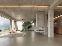 Бетонный дом у озера Люцерн, Швейцария