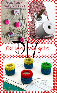 What do you use for pattern weights?  Here are tutorials for lots of ways you can make your own pretty and functional weights.