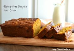 Just the thing to use up some of my pear abundance! Gluten Free Pumpkin Pear Bread from The Realistic Nutritionist