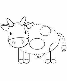 Werkblad motoriek: Cow Tracing