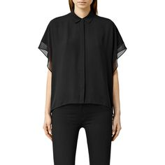 Buy AllSaints Thea Sheer Shirt, Black from our Women's Tops range at John Lewis. Free Delivery on orders over £50.
