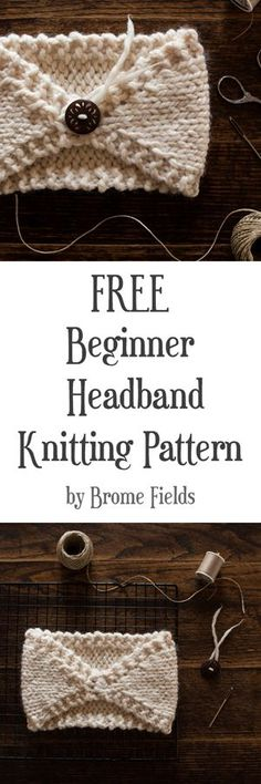 FREE Beginner Headband Knitting Pattern : Perfectly Imperfect : Brome Fields – Knitting patterns, knitting designs, knitting for beginners. Easy Knitting, Knitting For Beginners, Loom Knitting, Knitting Stitches, Knitting Patterns Free, Crochet Patterns, Hat Patterns, Start Knitting, Knit Or Crochet