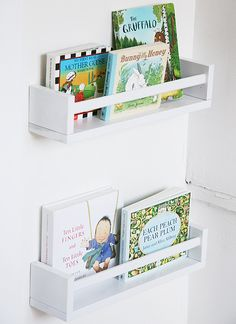 Ikea spice racks as bookshelves
