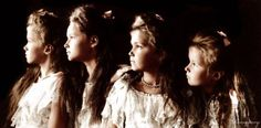 A really intriguing picture of the Romanov sisters.
