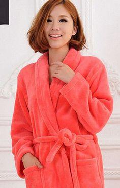 5aa556c111 2015 Autumn winter bathrobes for women men lady s long sleeve flannel robe  female male sleepwear lounges