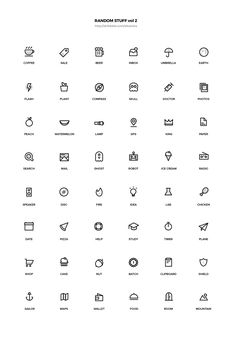 Random Stuff Free Iconset vol 2 Mini Drawings, Easy Drawings, Behance Icon, App Icon Design, Instagram Highlight Icons, Bullet Journal Inspiration, Line Icon, Doodle Art, Icon Set