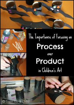 Why is process art more important than the end product?  A fun, open ended bat craft for kids.
