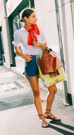 lookbyus calça jeans look casual sandália amarela sapato