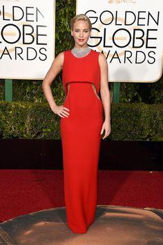 Jennifer Lawrence in Dior bei den Golden Globe Awards