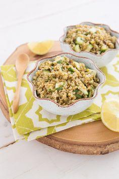 Freekeh, Zucchini & Pistachio Salad  | Oh My Veggies