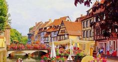 Romantic Places in Colmar france Best Vacation Destinations, Romantic Destinations, Romantic Places, Best Vacations, Peterborough, Bora Bora, Colmar Alsace, Myconos, Santa Marta