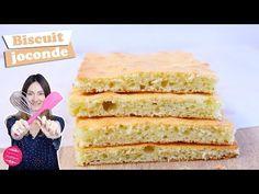 La recette du biscuit joconde, un biscuit très léger et aérien pour les gâteaux Opéra. Number Cakes, Meringue, Sweet Stuff, Macarons, Vanilla Cake, Nutrition, Friends, Cooking, Videos